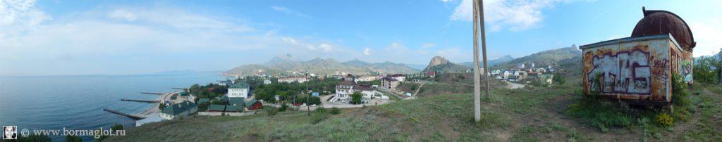 Вид 2 на пгт Курортное с восточной стороны