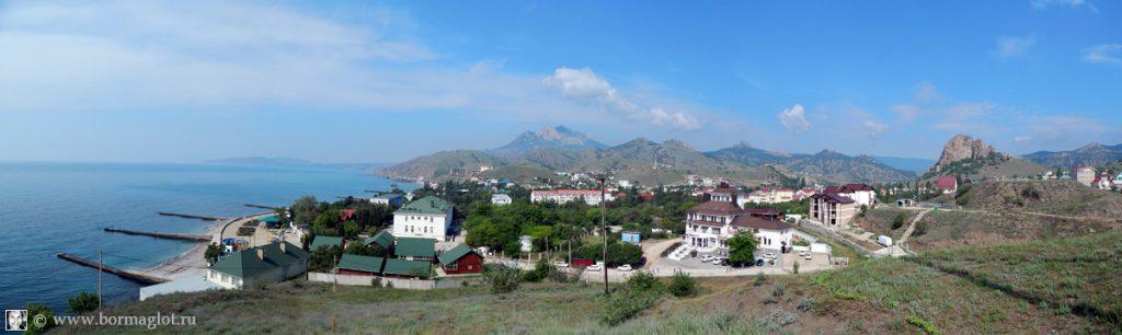 вид на посёлок Курортное с востока