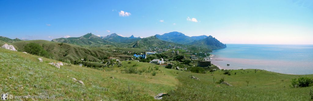 Вид 2 на пгт Курортное с западной стороны