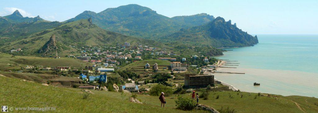 вид на посёлок Курортное с запада