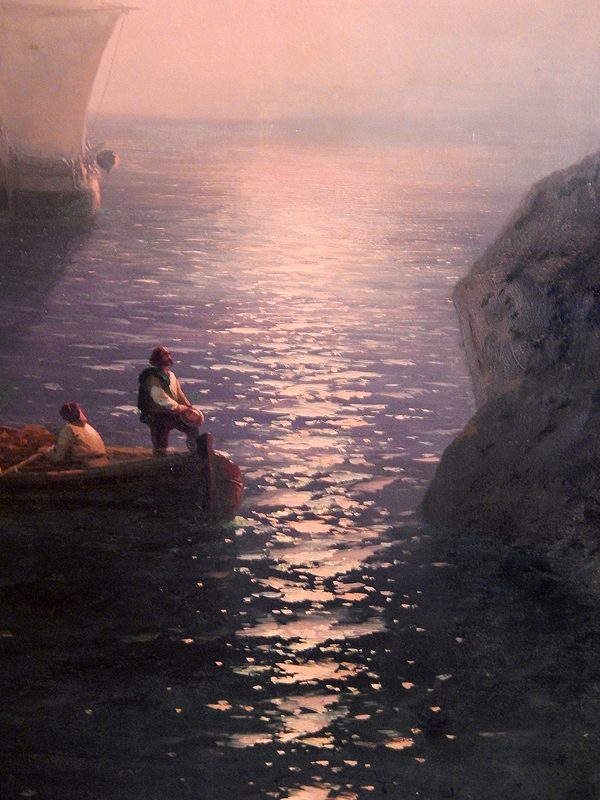 фрагмент картины «Туманное утро в Италии»