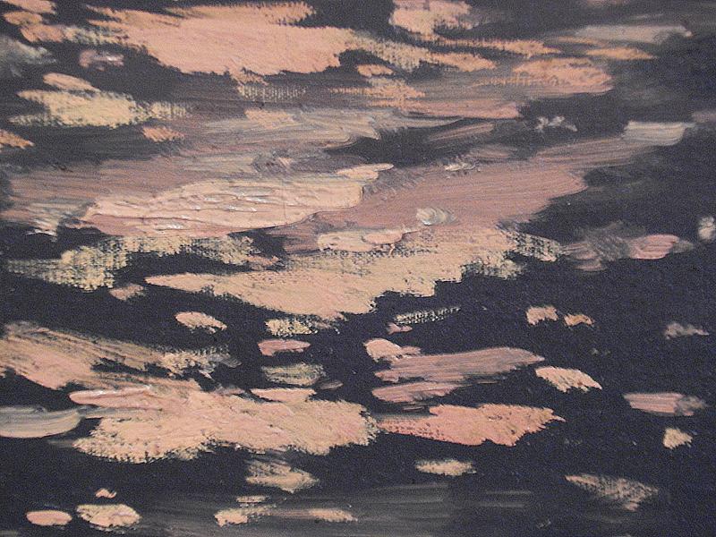 крупный фрагмент картины «Туманное утро в Италии»