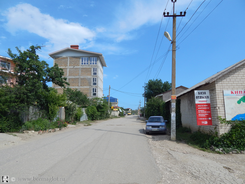 улица в пгт Курортное