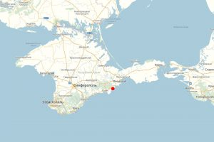 Курортное на карте Крыма